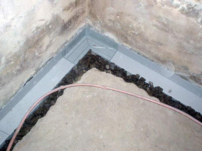 basement drainage channel installation basement drain pipe system