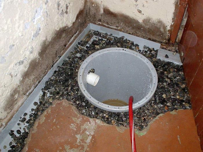 basement drainage channel installation basement drain pipe system
