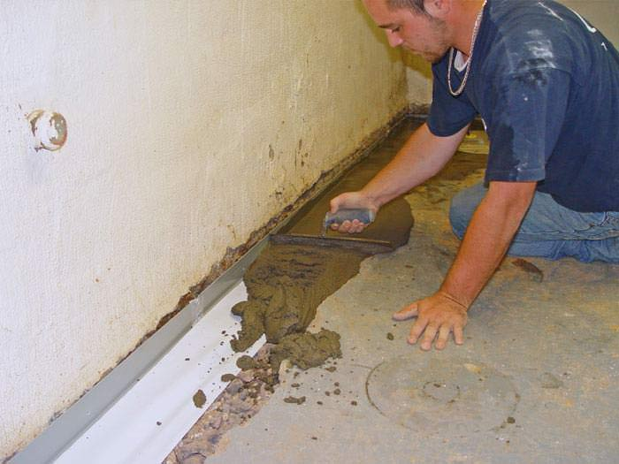 Foundation waterproofing options interior exterior - Interior basement drainage systems ...