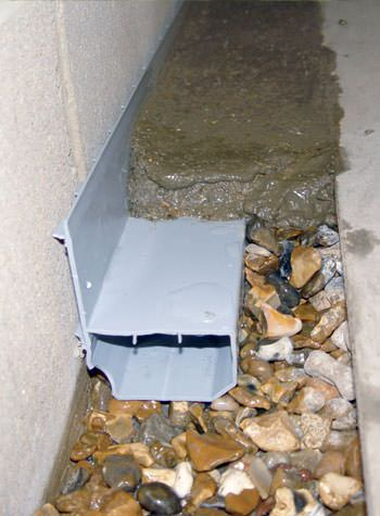 WaterGuard® weeping tile system for leaking basement problems.