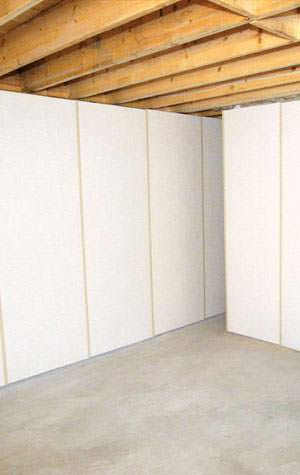 insulated unfinished basement wall panels