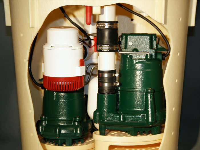 Sump Pump Parts Of Our Complete Waterproofing System