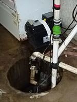 A dc to ac powered sump pump system