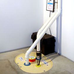 Our TripleSafe sump pump system installed in a basement.