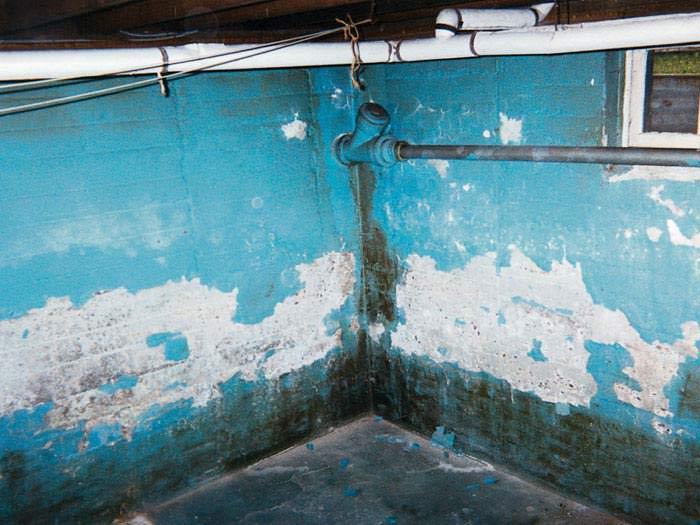 peeling waterproof paint in basement. Black Bedroom Furniture Sets. Home Design Ideas