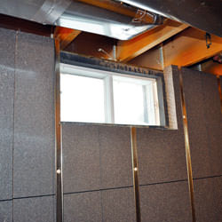 Insulated basement walls and energy efficient windows