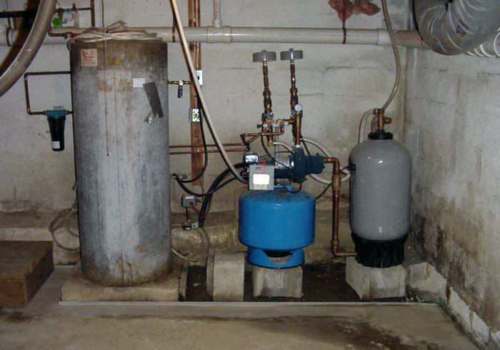 water heater and other utilities located in a uninsulated basement