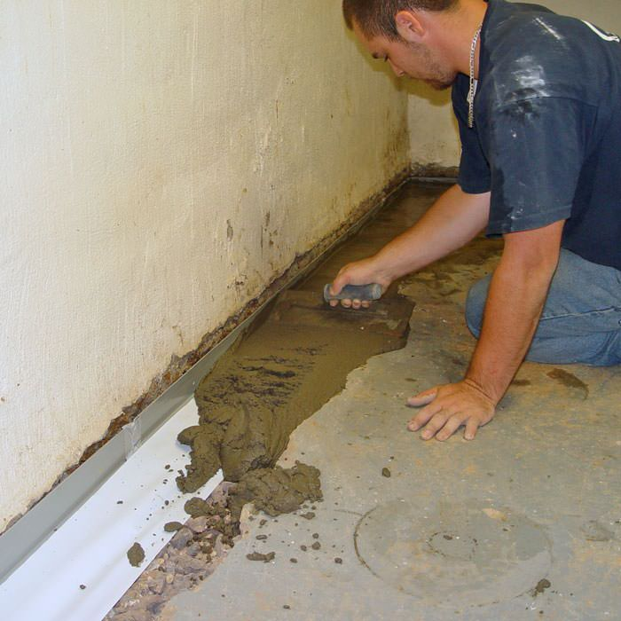 testing a french drain system in a coventry home