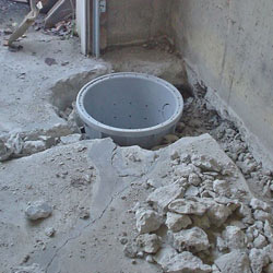 Placing a sump pit in a Plymouth home