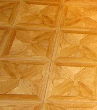Parquet basement floor tiles Edinburgh, Great Britain