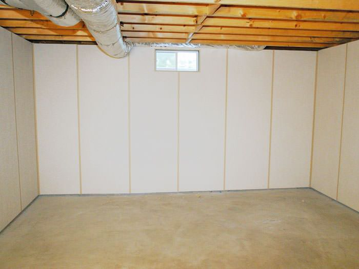 Insulated Basement Wall Panels Installed In GB