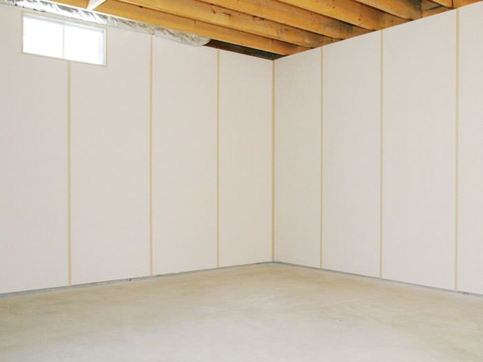 Insulated Basement Wall Panels Installed In Gb Basement